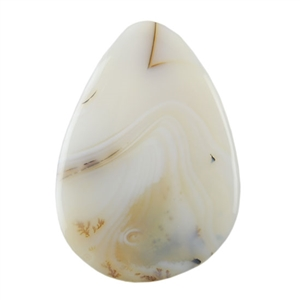 Montana Agate Gemstone - Pear Cabochon 26x37mm - Pak of 1