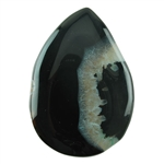 Dyed Agate Gemstone - Pear Cabochon 39mm x 55mm Pkg - 1