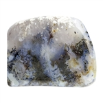 Natural Green Moss Agate Gemstone - Freeform Cabochon 28.5mm x 36mm Pkg - 1