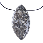 Turritella Agate Gemstone - Pear Pendants 12x45mm - 1 Pair