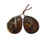 Septarian Gemstone - Pear Pendant 22x28mm - 1 Pair