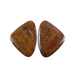 Natural Bronzite Gemstone - Cabochon Triangles 19x25mm - 1 Pair