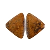Natural Bronzite Gemstone - Cabochon Triangles 22x29mm - 1 Pair