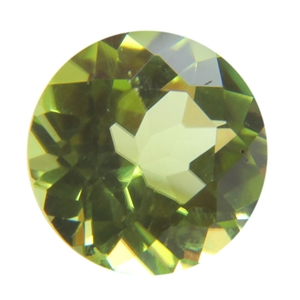 Natural Peridot 6mm Round - Pak of 1