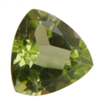 Natural Peridot Gemstone - Trillion