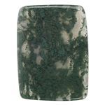 Natural Green Moss Agate Gemstone - Cabochon Rectangle 44mm x 58mm Pkg - 1