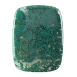 Natural Green Moss Agate Gemstone - Cabochon Rectangle 42mm x 55mm Pkg - 1