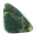 Natural Green Moss Agate Gemstone - Freeform Cabochon 27mm x 42mm Pkg - 1