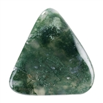 Natural Green Moss Agate Gemstone - Freeform Cabochon 32mm x 34mm Pkg - 1