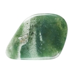 Natural Green Moss Agate Gemstone - Freeform Cabochon 26mm x 36mm Pkg - 1