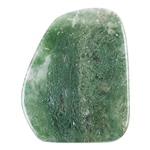 Natural Green Moss Agate Gemstone - Freeform Cabochon 29mm x 36mm Pkg - 1