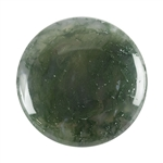 Natural Green Moss Agate Gemstone - Cabochon Round 35mm Pkg-1