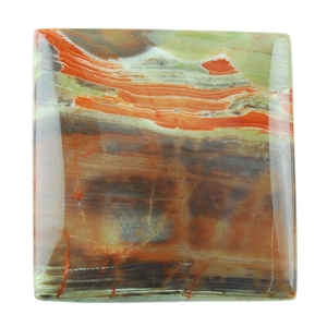 Mushroom Jasper Gemstone - Cabochon Rectangle 28mm x 29mm Pkg - 1
