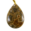 Ocean Jasper Gemstone - Pear Pendant 25mm x 36mm - Pak of 1
