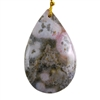Ocean Jasper Gemstone - Pear Pendant 28mm x 45mm - Pak of 1