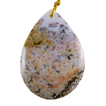 Ocean Jasper Gemstone - Pear Pendant 32mm x 44mm - Pak of 1