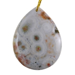 Ocean Jasper Gemstone - Pear Pendant 33mm x 42mm - Pak of 1