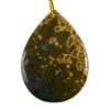 Ocean Jasper Gemstone - Pear Pendant 31mm x 43mm - Pak of 1