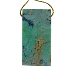 African Chrysoprase Gemstone - Rectangle Pendant 26mm x 50mm - Pak of 1