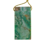 African Chrysoprase Gemstone - Rectangle Pendant 24mm x 48mm - Pak of 1
