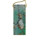 African Chrysoprase Gemstone - Rectangle Pendant 22mm x 53mm - Pak of 1