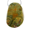 Rainforest Jasper Gemstone - Freeform Pendant 28mm x 40mm - Pak of 1