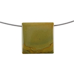 Cripple Creek Jasper Gemstone - Rectangle Pendant 30x31mm - Pak of 1