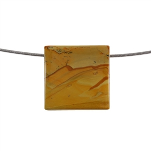 Cripple Creek Jasper Gemstone - Rectangle Pendant 36x27mm - Pak of 1