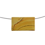 Cripple Creek Jasper Gemstone - Rectangle Pendant 40mm x 23mm Pkg - 1