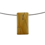 Cripple Creek Jasper Gemstone - Rectangle Pendant 17x32mm - Pak of 1