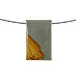 Cripple Creek Jasper Gemstone - Rectangle Pendant 21x33mm - Pak of 1