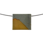Cripple Creek Jasper Gemstone - Rectangle Pendant 24x29mm - Pak of 1