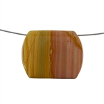 Cripple Creek Jasper Gemstone - Rectangle Pendant 52mm x 41mm Pkg - 1