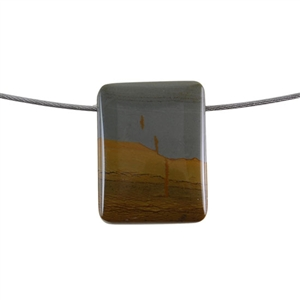 Cripple Creek Jasper Gemstone - Rectangle Pendant 28x27mm - Pak of 1