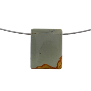 Cripple Creek Jasper Gemstone - Rectangle Pendant 24x31mm - Pak of 1