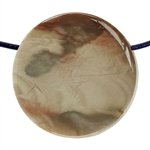 Carrasite Jasper Gemstone - Round Pendant 23mm