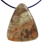 Carrasite Jasper Gemstone -Triangle Pendant 29mm x 35mm