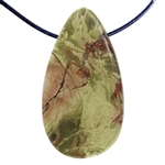 Carrasite Jasper Gemstone -Teardrop Pendant 28mm x 51mm