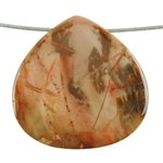 Natural Carrasite Jasper Gemstone - Pendant Chubby Drop 42mm Pkg - 1