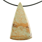 Natural Carrasite Jasper Gemstone - Pendant Triangle 31mm x 55mm Pkg - 1