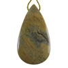 Silver Leaf Jasper Gemstone - Pear Pendant 28mm x 50mm - Pak of 1