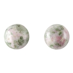 Unakite Gemstone - Cabochon Round 10mm Matched Pair