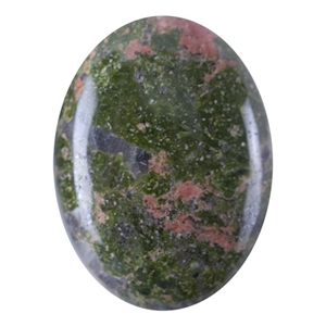 Natural Unakite Gemstone - Cabochon Oval 10x12mm - Pak of 1