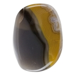 Natural Kentucky Agate Gemstone - Freeform Cabochon 27mm x 35.5mm - Pkg - 1