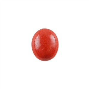 Natural Red Jasper Gemstone - Cabochon Oval 10x12mm - Pak of 1