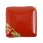Natural Red Jasper Gemstone - Cabochon Square 25mm - Pak of 1
