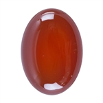 Natural Carnelian Gemstone - Cabochon Oval 13x18mm - Pak of 1