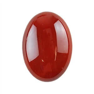 Natural Carnelian Gemstone - Cabochon Oval 18x25mm - Pak of 1