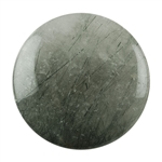 Black Rutilated Quartz Gemstone - Round Cabochon 25mm Pkg - 1