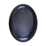 Natural Black Lip Shell Gemstone - Cabochon Oval 6x8mm - Pak of 1